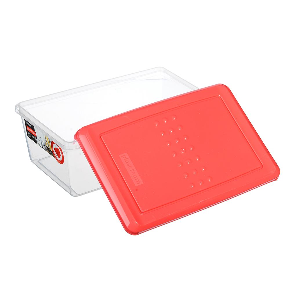 Емкость для хранения продуктов PATTERN, прямоугольная, 1,05л, цвета: коралл, лайм