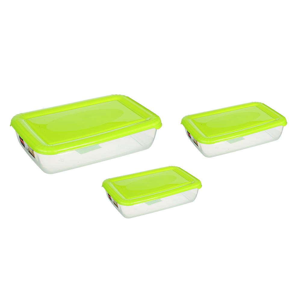 Набор емкостей для продуктов POLAR, прямоугольные, 3 шт, 0,45л, 0,9л, 1,9л, арт. РТ1688