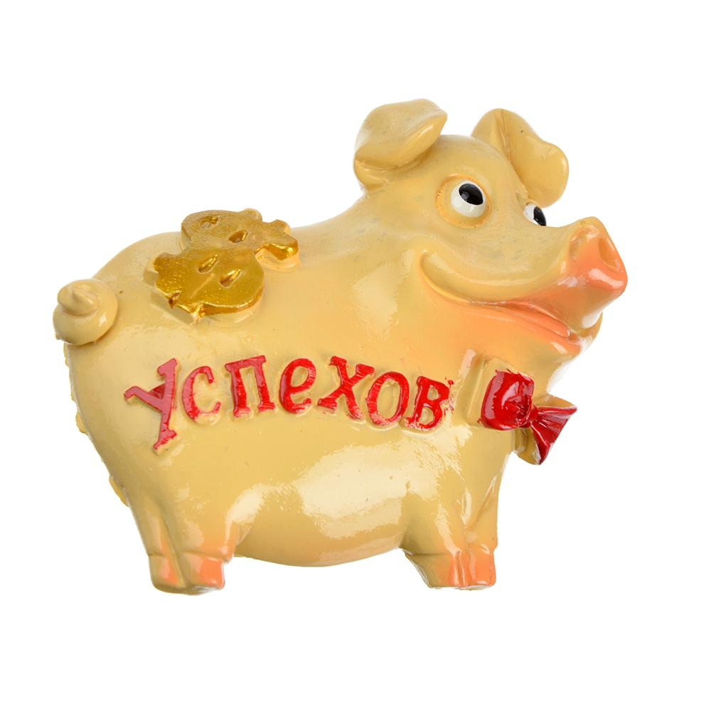 СНОУ БУМ Магнит Символ года, полистоун, 7х6 см, 4 вида