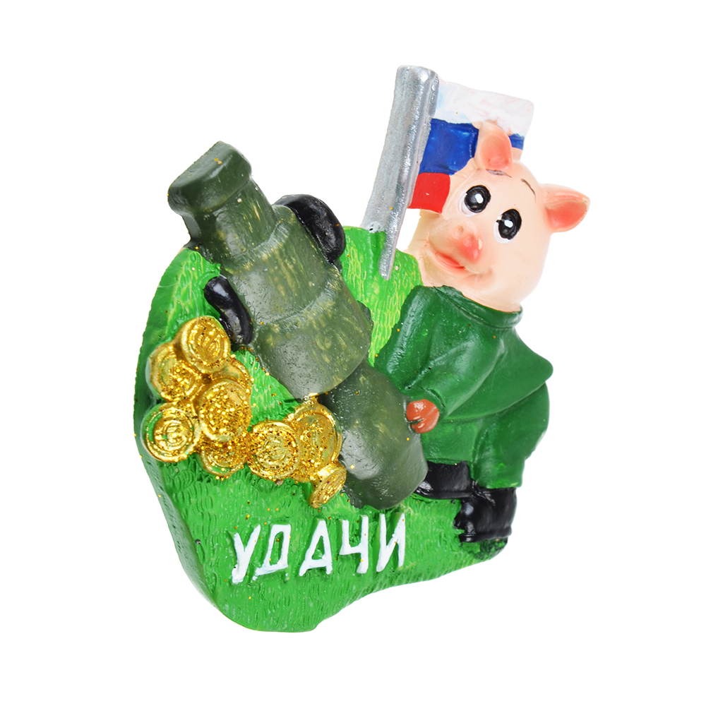 СНОУ БУМ Магнит Символ года, полистоун, 6,5 см, 4 вида, арт 1
