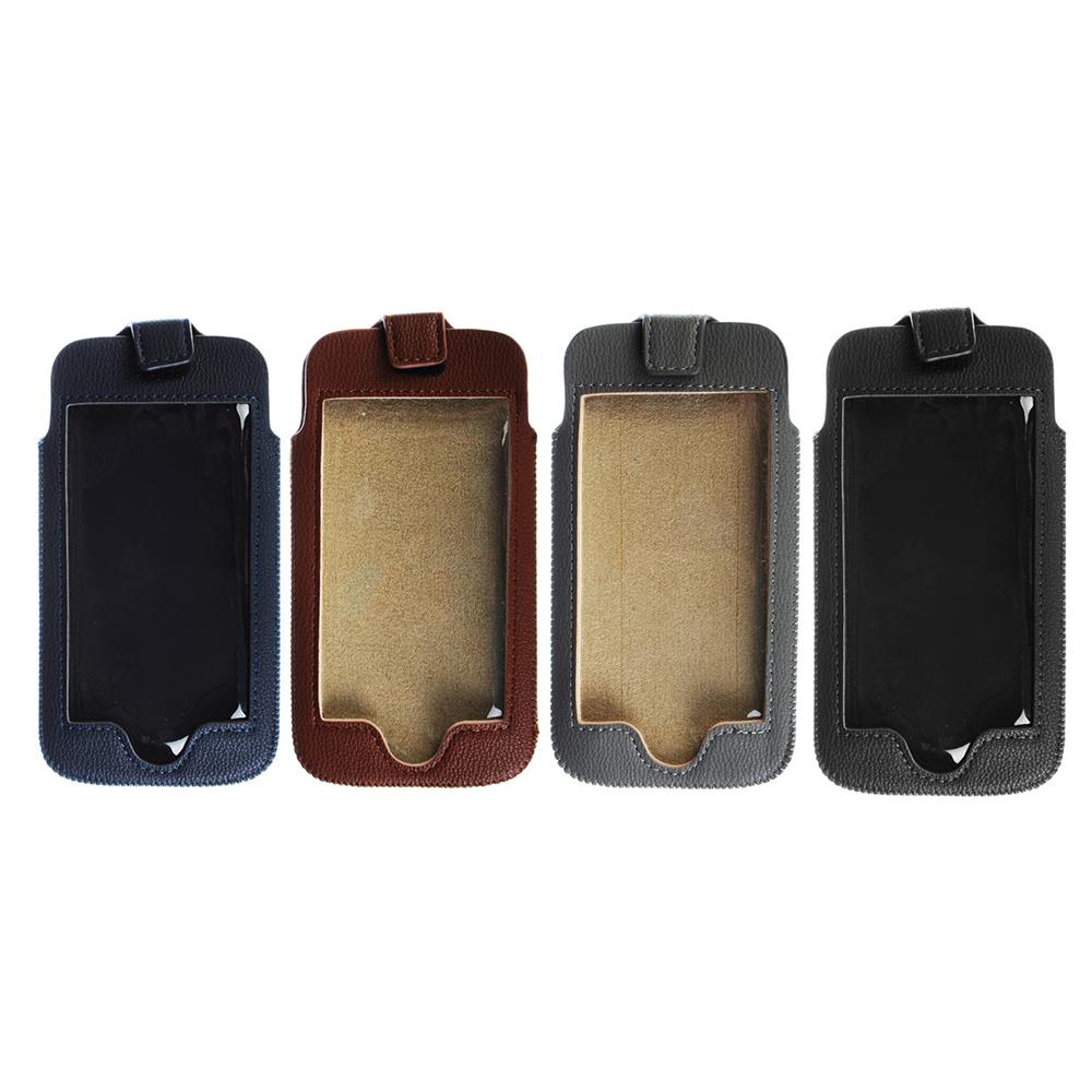 Чехол для телефона контактный, ПУ, 15х8см, 4 цвета