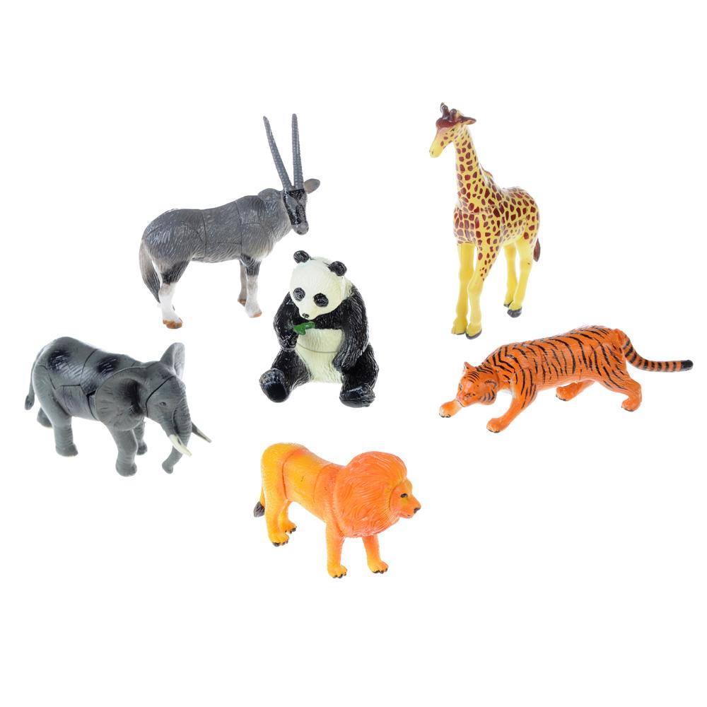 """ИГРОЛЕНД Фигурка-пазл """"Животные"""", коллекционная, 7-11см, в пакете 10х14х4см, пластик, 8-26 деталей"""