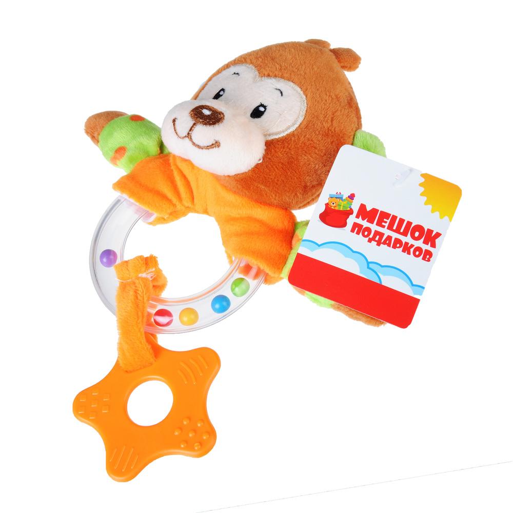 МЕШОК ПОДАРКОВ Игрушка плюшевая с прорезывателем в виде животных, 20 см, плюш, 6 дизайнов