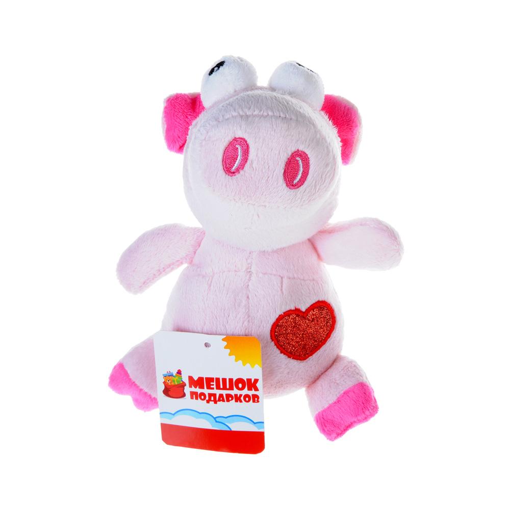 МЕШОК ПОДАРКОВ Игрушка мягкая в виде животных с сердечком, 16см, плюш, 3 дизайна