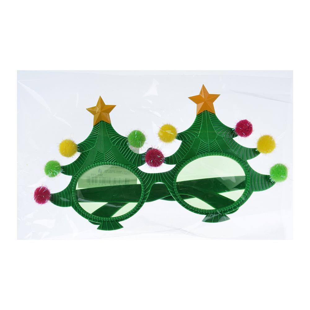Очки карнавальные, пластиковые, 21х11 см, в форме елки, СНОУ БУМ