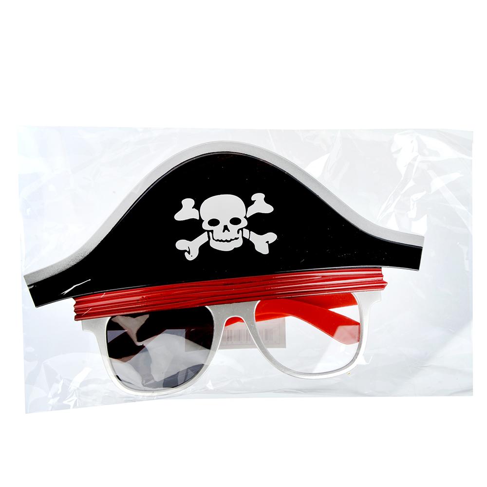 Очки карнавальные, пластиковые, 20,5х12 см, в форме пирата, СНОУ БУМ