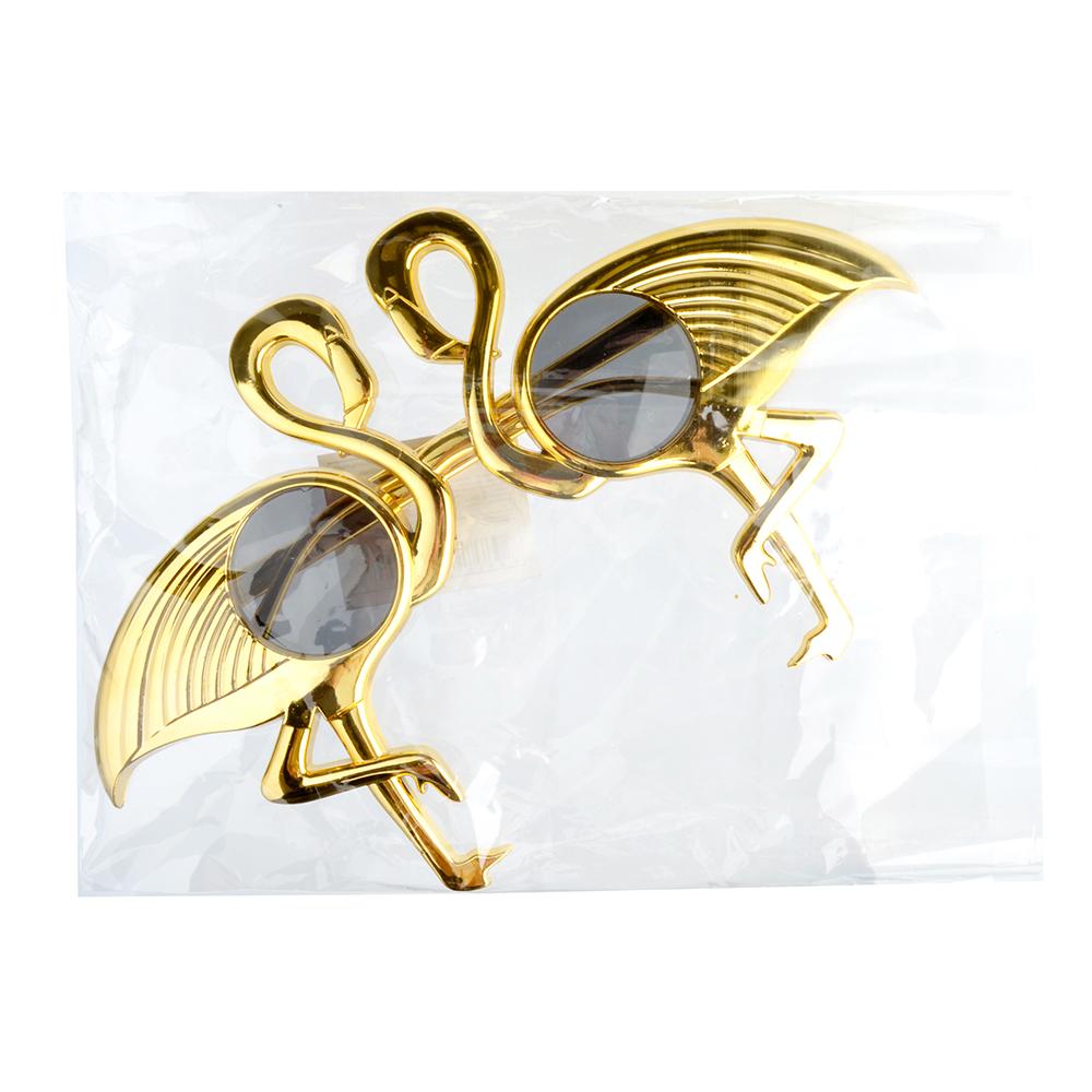 Очки карнавальные, пластиковые, 24,5х15 см, в форме фламинго, СНОУ БУМ