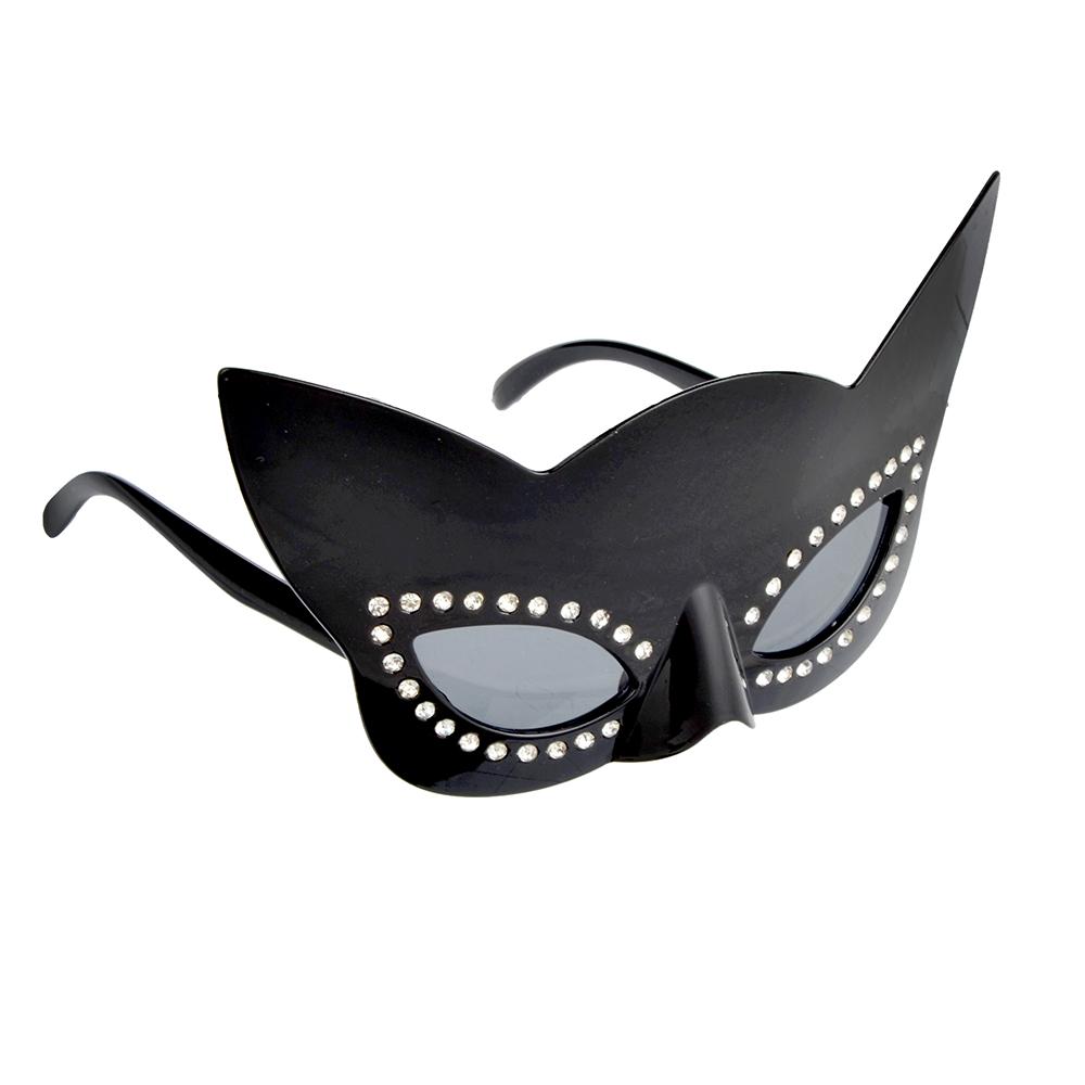 Очки карнавальные, пластиковые, 21х10,5 см, в форме кошки, СНОУ БУМ
