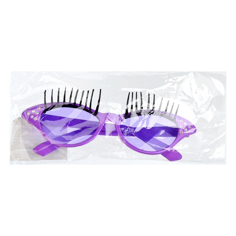 Очки карнавальные, пластиковые, 15,5х5 см, 3 цвета, с ресничками, СНОУ БУМ