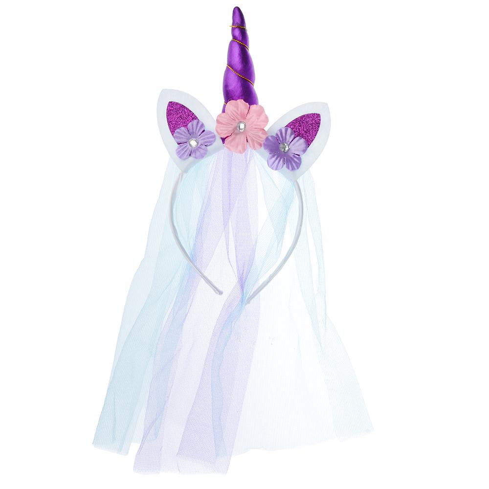 Ободок карнавальный, полиэстер, 40х20 см, 2 цвета, СНОУ БУМ