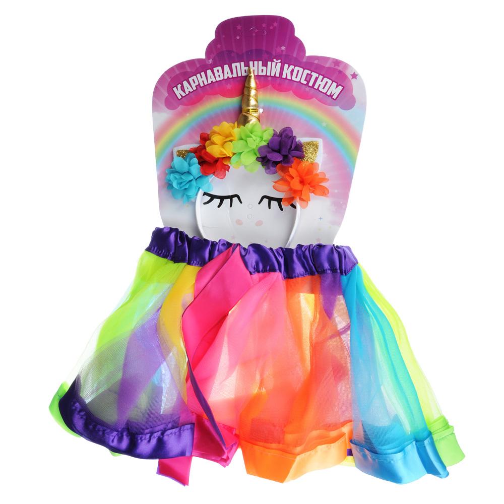 Костюм карнавальный с юбкой, ободком, полиэстер, 3-5 лет, рост 92-110 см, от 48-54 см, об 54-66 см,