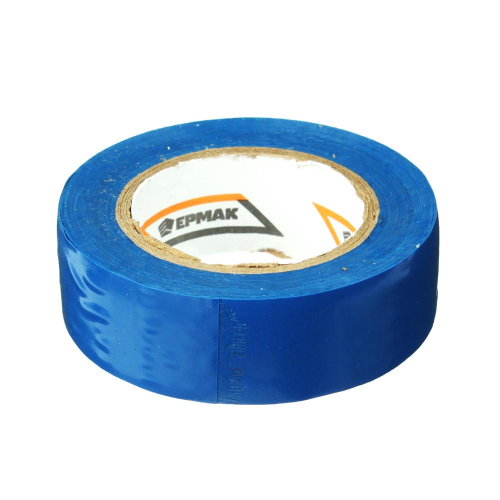 Изолента, 19 мм-10 м, синяя, ЕРМАК