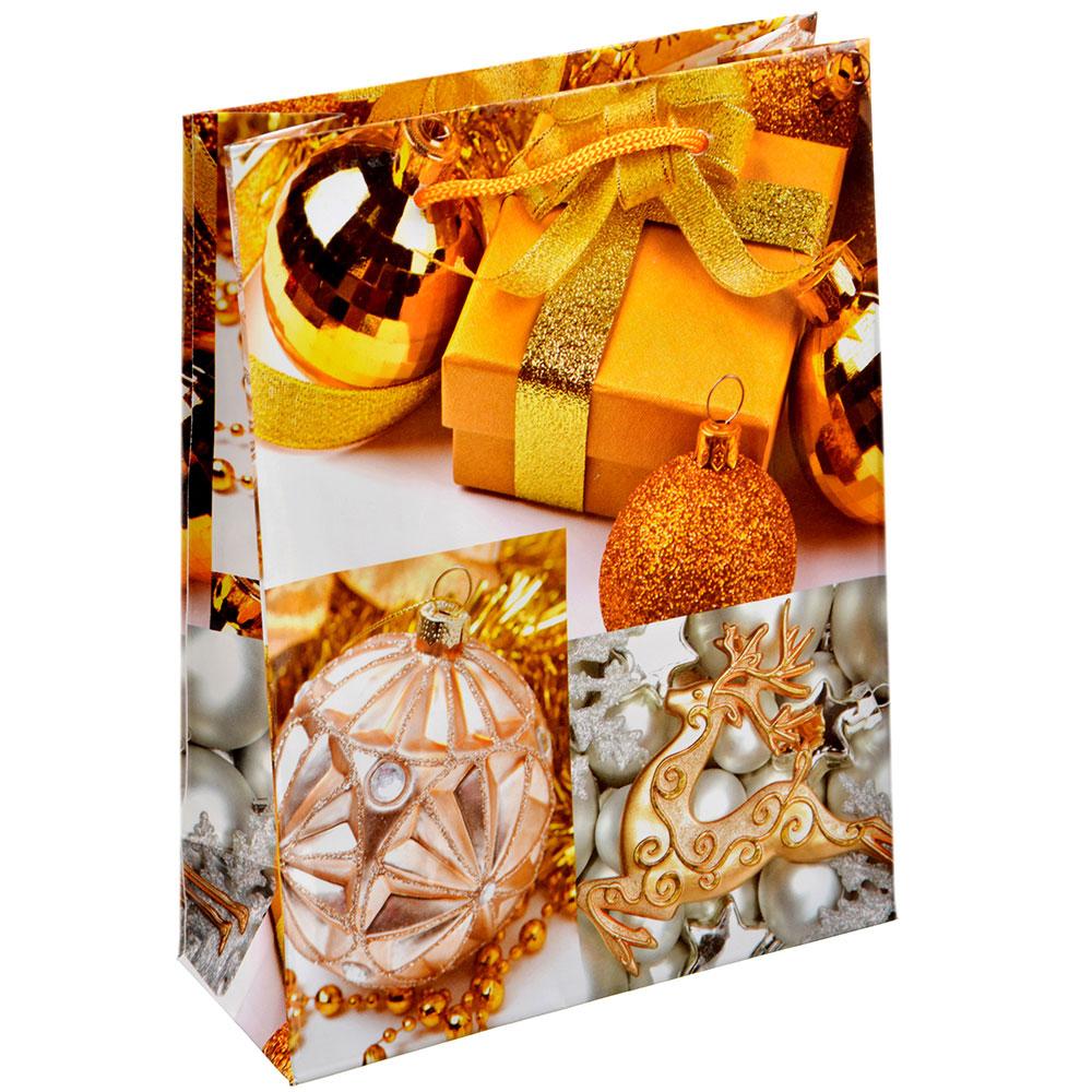 СНОУ БУМ Пакет подарочный, 12,5х17х5,5 см, бумага 4 вида, арт.0329