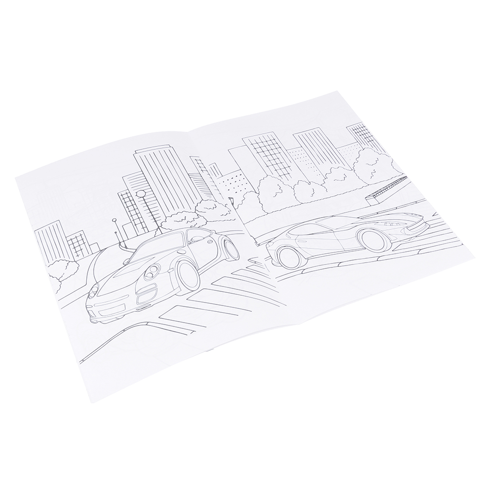 ЮТОН Раскраска детская 21х30 см, 12 стр, 8-10 дизайнов, GC Design