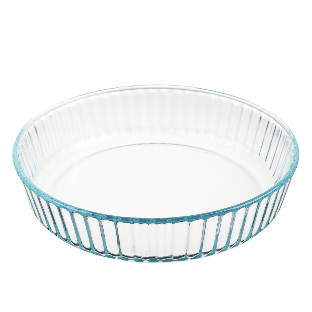 Форма для запекания жаропрочная, рельефный бортик, стекло, SATOSHI