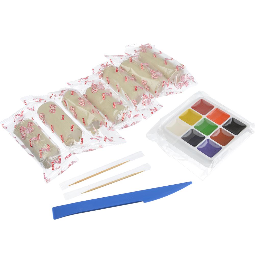ЛОРИ Игрушка из глины для росписи, основа из глины, краски, 11х13,5х4см, 4 дизайна