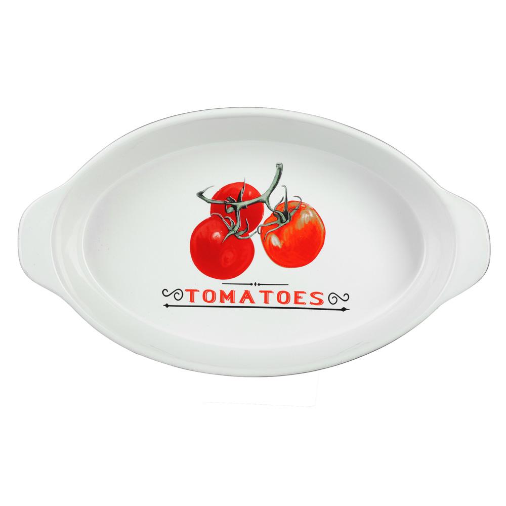 """Форма для запекания и многослойных салатов овальная, с ручкой, керамика, 35.5х20.5х6 см, MILLIMI """"Ве"""