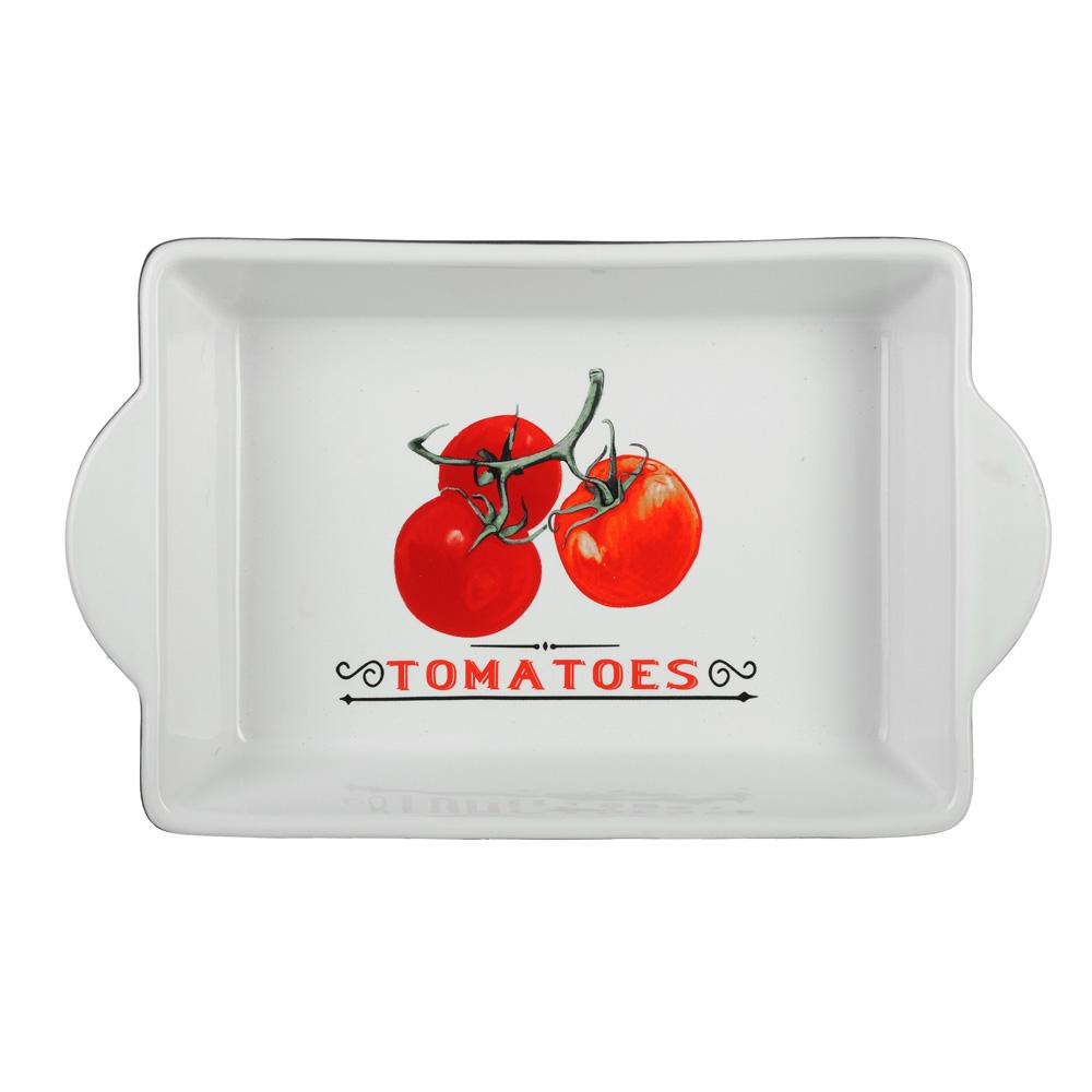 Форма для запекания и многослойных салатов прямоугольная, с ручкой, керамика, 28х17.5х5 см, MILLIMI