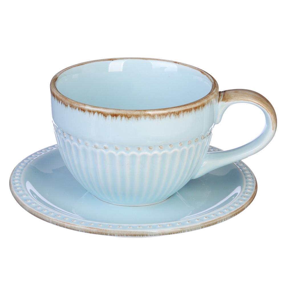 """Чайный сервиз 2 предмета, керамика, MILLIMI """"Аромат"""""""