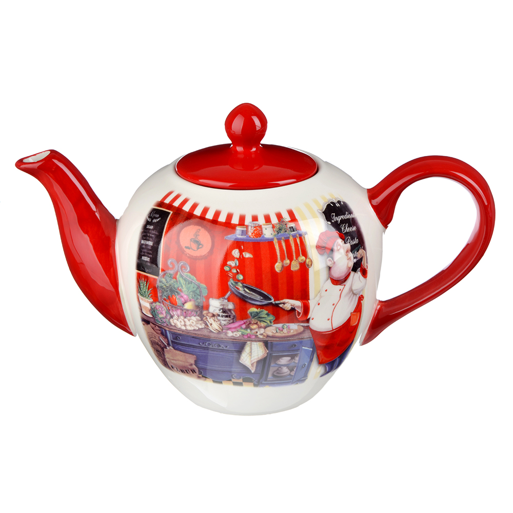 """Чайник заварочный керамический, 1200 мл, 25х14х16 см,  MILLIMI """"Повар"""""""