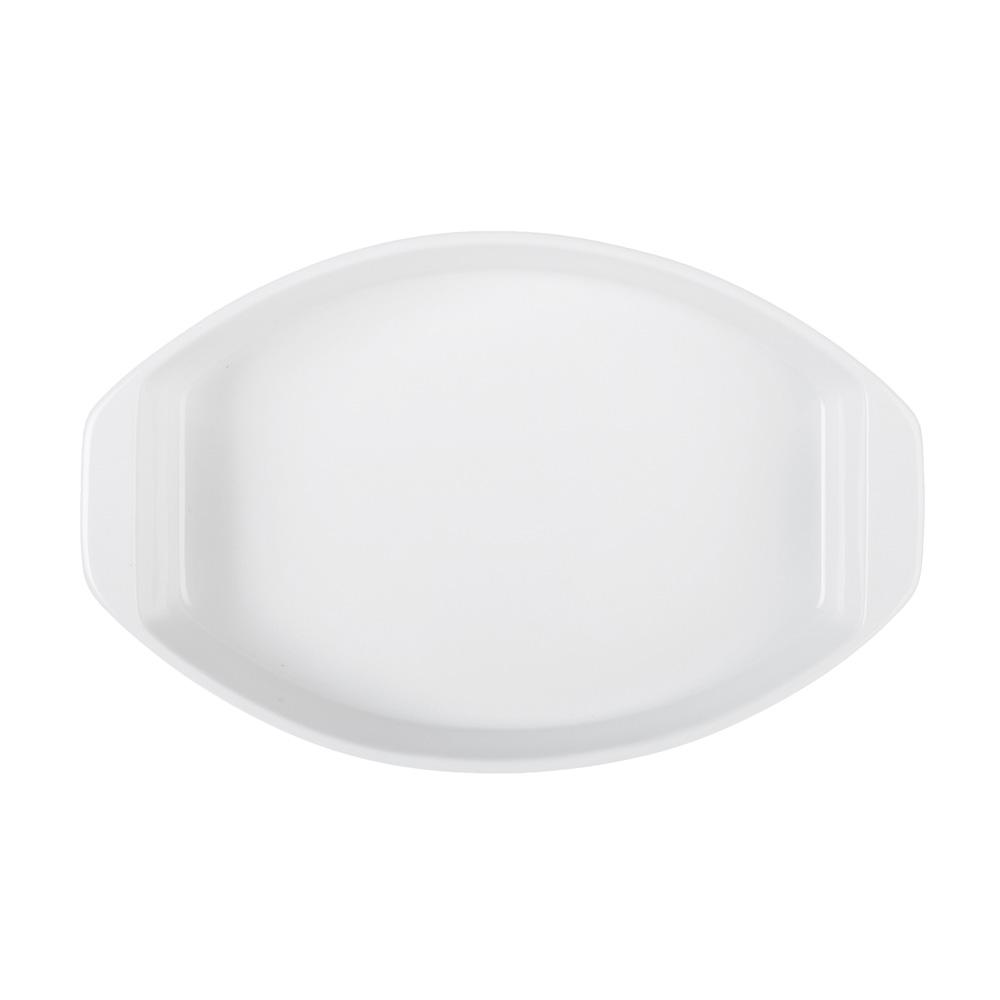 MILLIMI Жемчуг Форма для запекания и сервировки овальная с ручками, 30х19.5х5см, белая