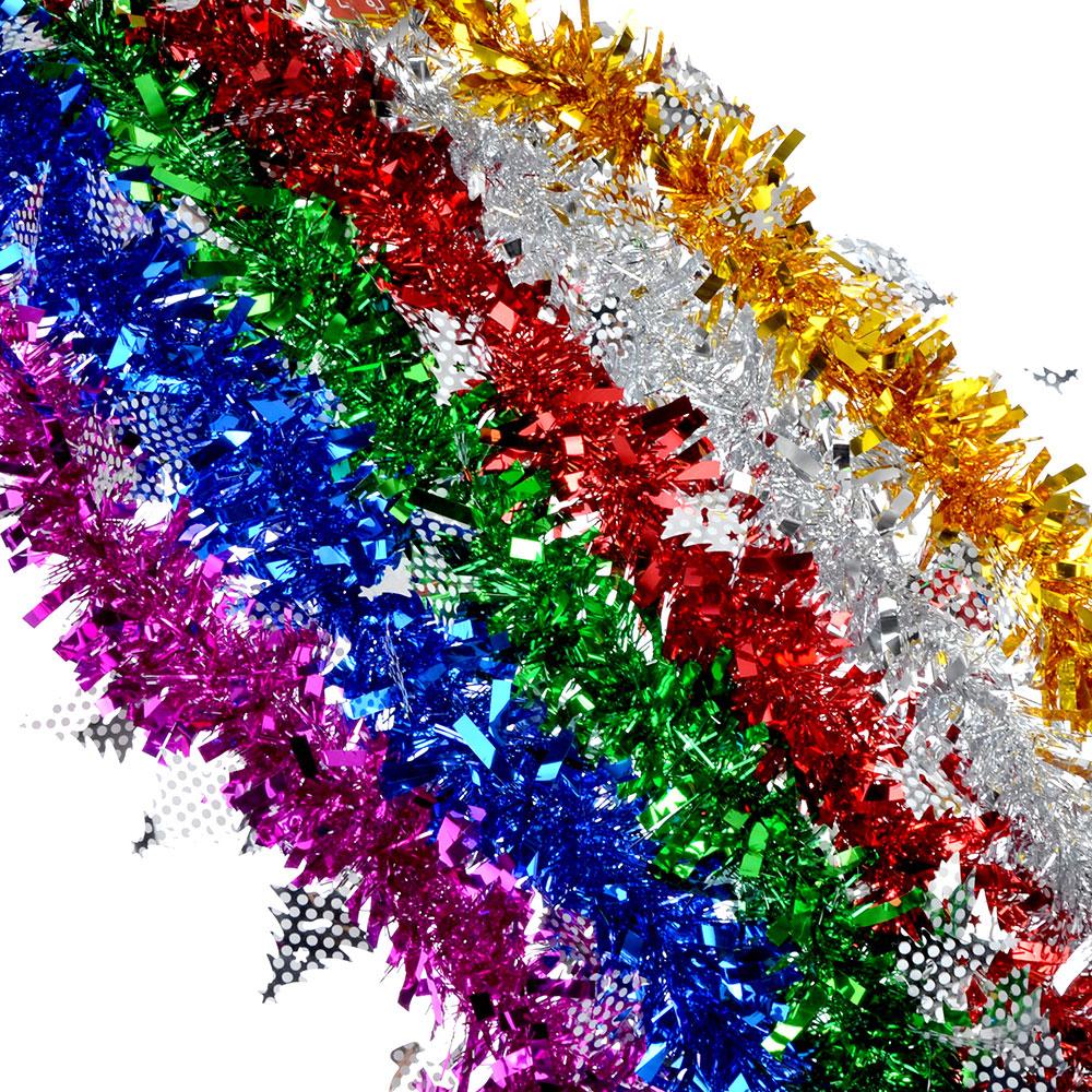 СНОУ БУМ Мишура 9x200см, ПВХ, 6 цветов, арт6