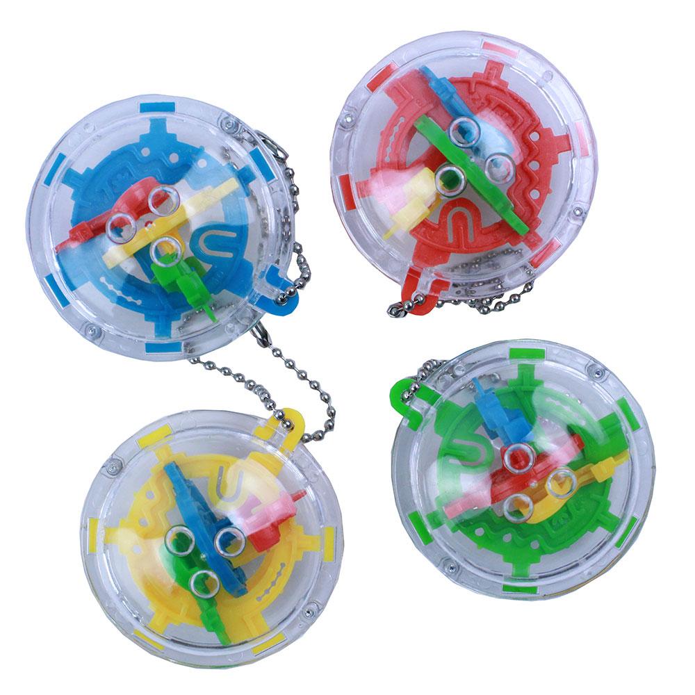 Головоломка шар-лабиринт мини, 5,8х4х5,8см, пластик