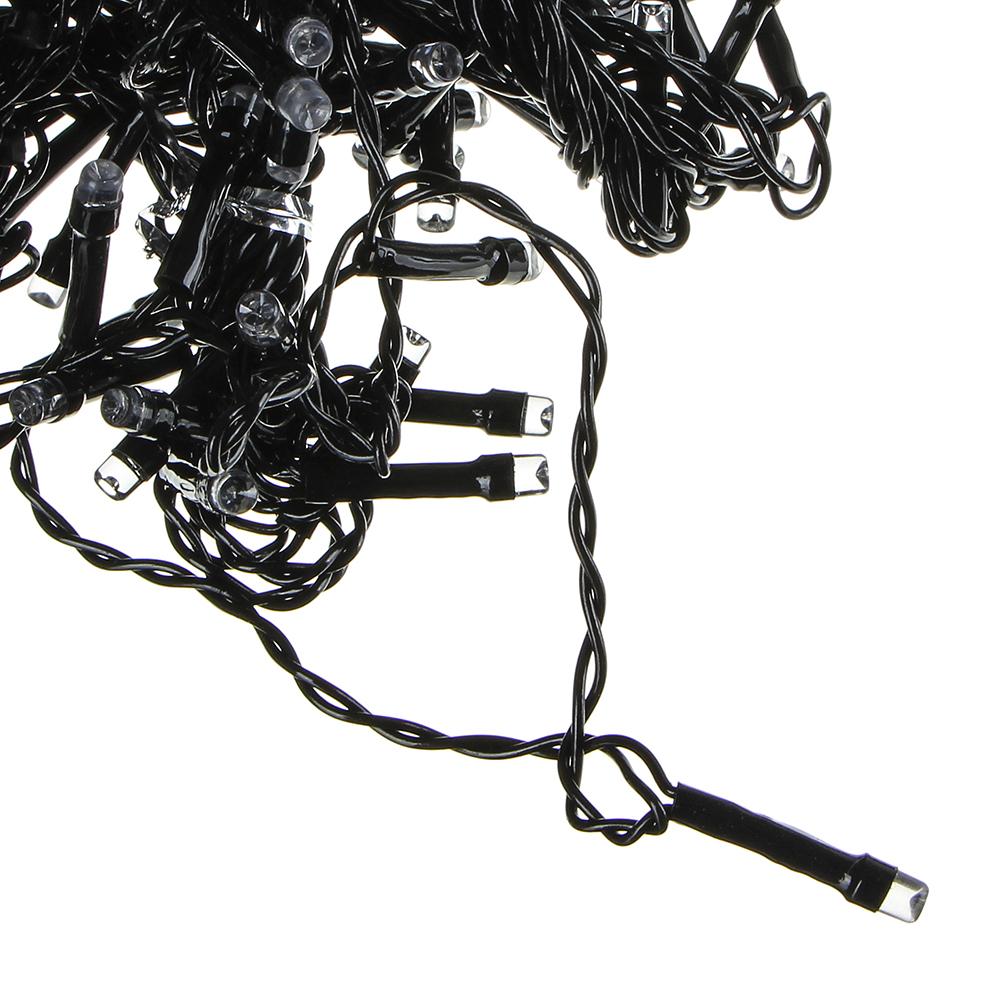 Гирлянда электрическая Вьюн СНОУ БУМ 10м, 100 LED, аква, мерцание 10LED, ПВХ провод, 220В