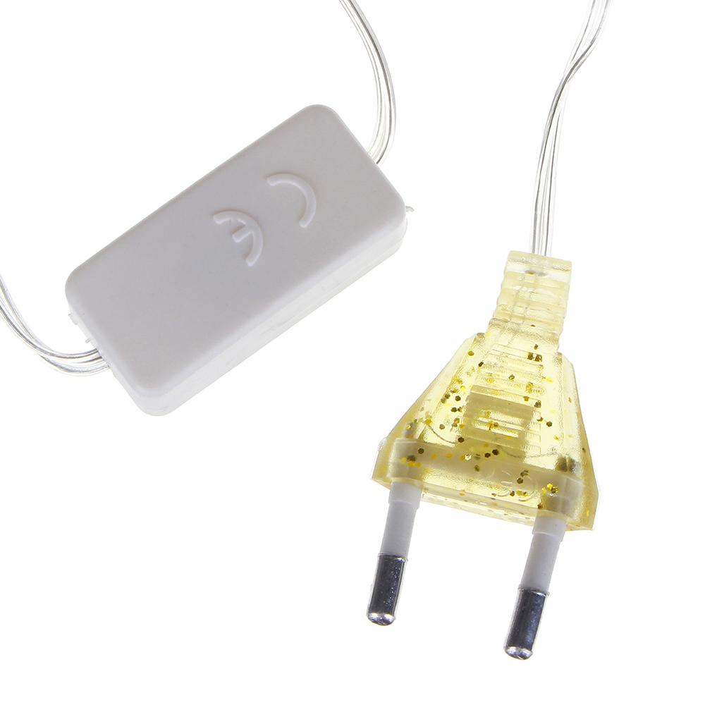Гирлянда светодиодная сетка СНОУ БУМ 224 LED, 2x2м, шампань, 8 режимов, ПВХ прозрачный провод, 220В