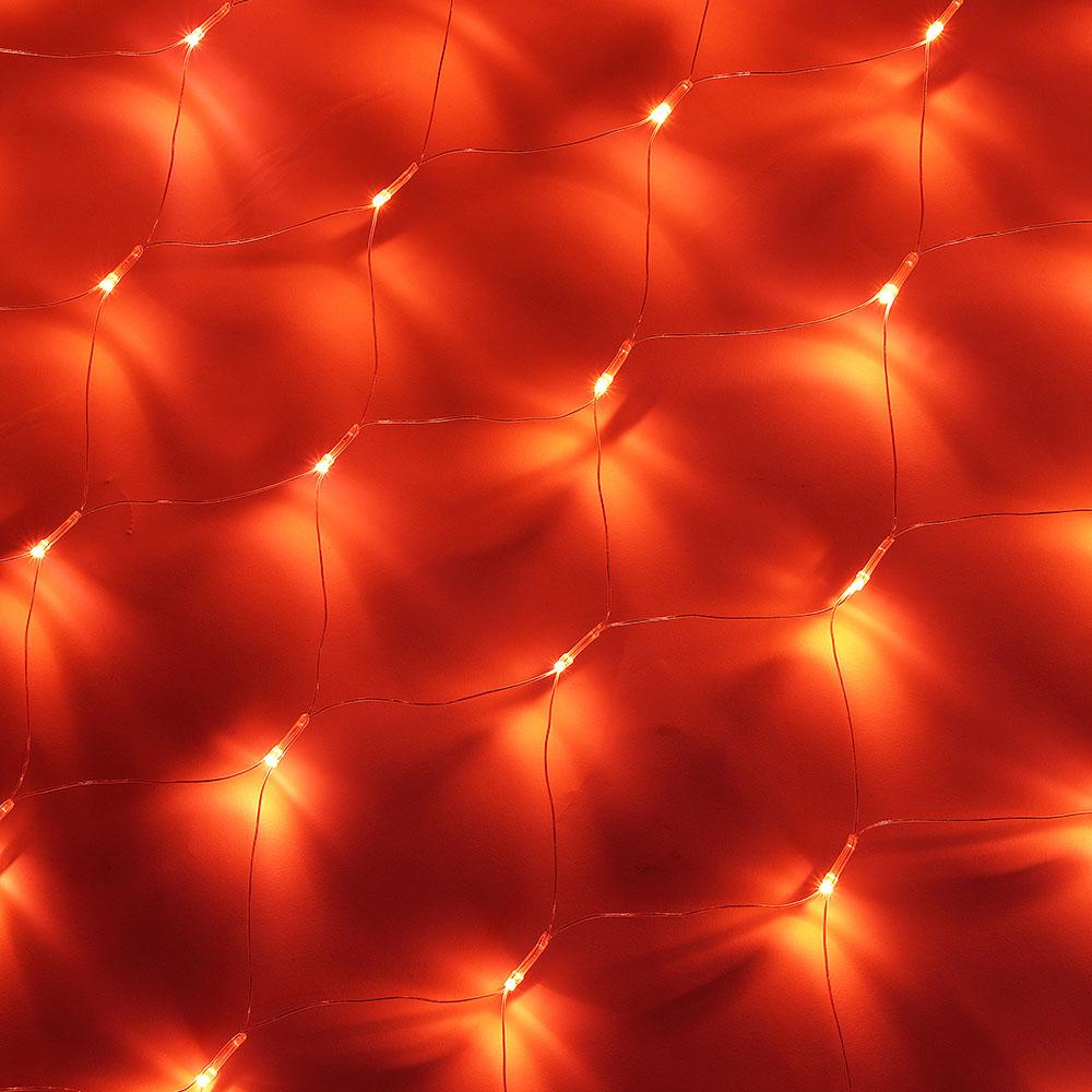 Гирлянда электрическая сетка СНОУ БУМ 144 LED, 1,6x1,6 м, коралловый