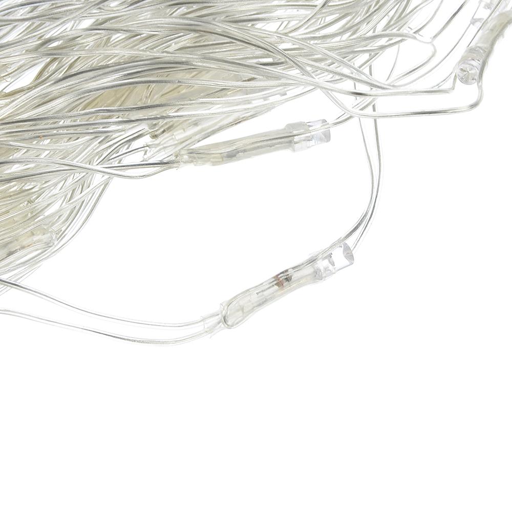Гирлянда светодиодная сетка СНОУ БУМ, 144 LED,1,6x1,6 м, хвост русалки, аква/голубой