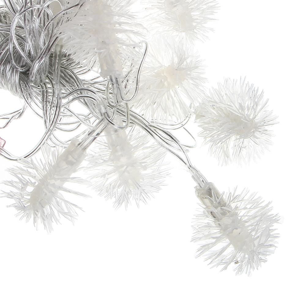 """Гирлянда светодиодная СНОУ БУМ, 3 м, 15LED, насадка в форме """"Снежинок 3D"""", Белая, 220В"""