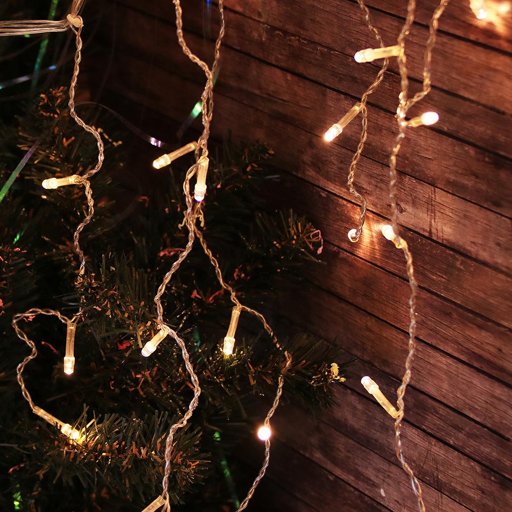 Гирлянда светодиодная Бахрома СНОУ БУМ 2,5x0,3х0,5x0,7 м, 80 LED, шампань, 220В