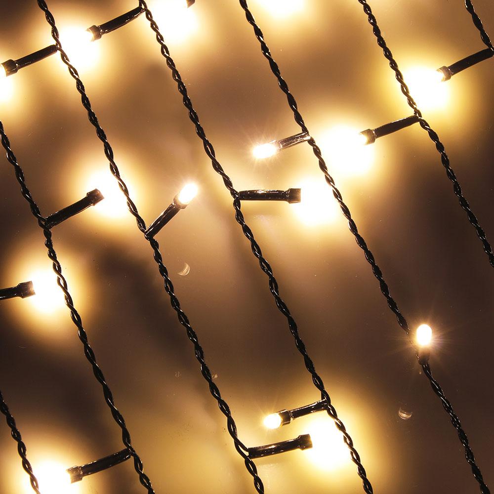 Гирлянда светодиодная Бахрома СНОУ БУМ 96 LED, 3x0,7 м, шампань, 8 режимов, ПВХ провод, 220В