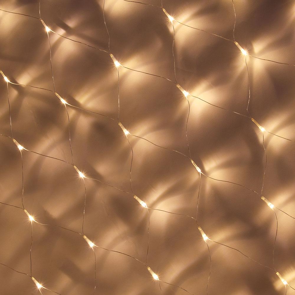 Гирлянда светодиодная сеть СНОУ БУМ 100LED, 2,5х0,5м, Шампань, прозрачный провод, 220В