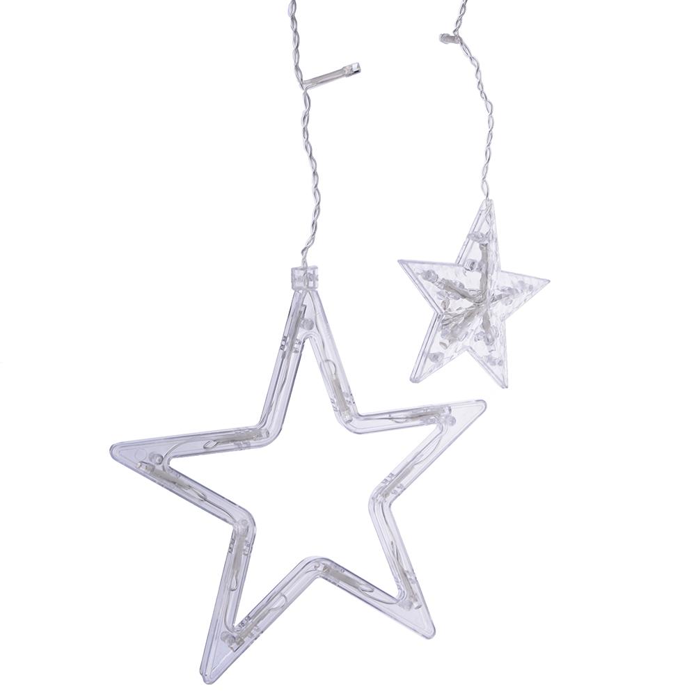 """Гирлянда светодиодная Бахрома СНОУ БУМ 115 LED, 2,8х0,55х0,9 м, """"Звезды"""", шампань"""