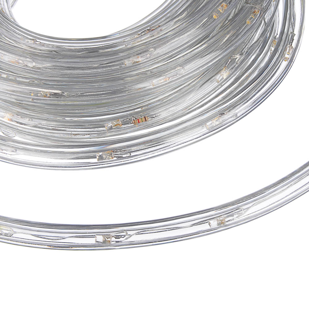 Светодиодный шнур СНОУ БУМ 6м, 24LED/m, 2 дорожки, 8 режимов, шампань, 220В