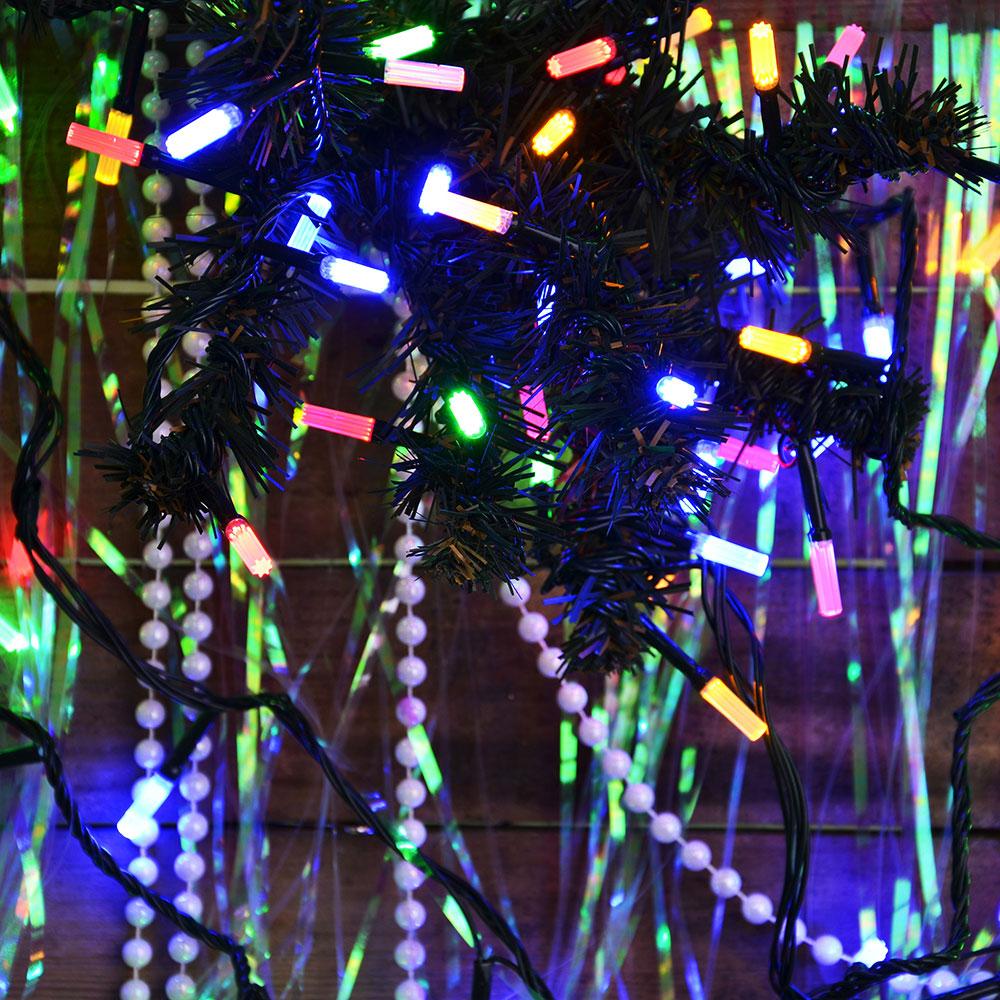 Гирлянда светодиодная Вьюн СНОУ БУМ 9м, 100 LED-призма,мультицвет, 8 режимов