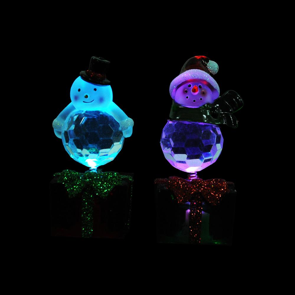 СНОУ БУМ Светильник LED, пластик, в виде фигурок, 10,5х4,4 см, 3xAG13, 4 дизайна