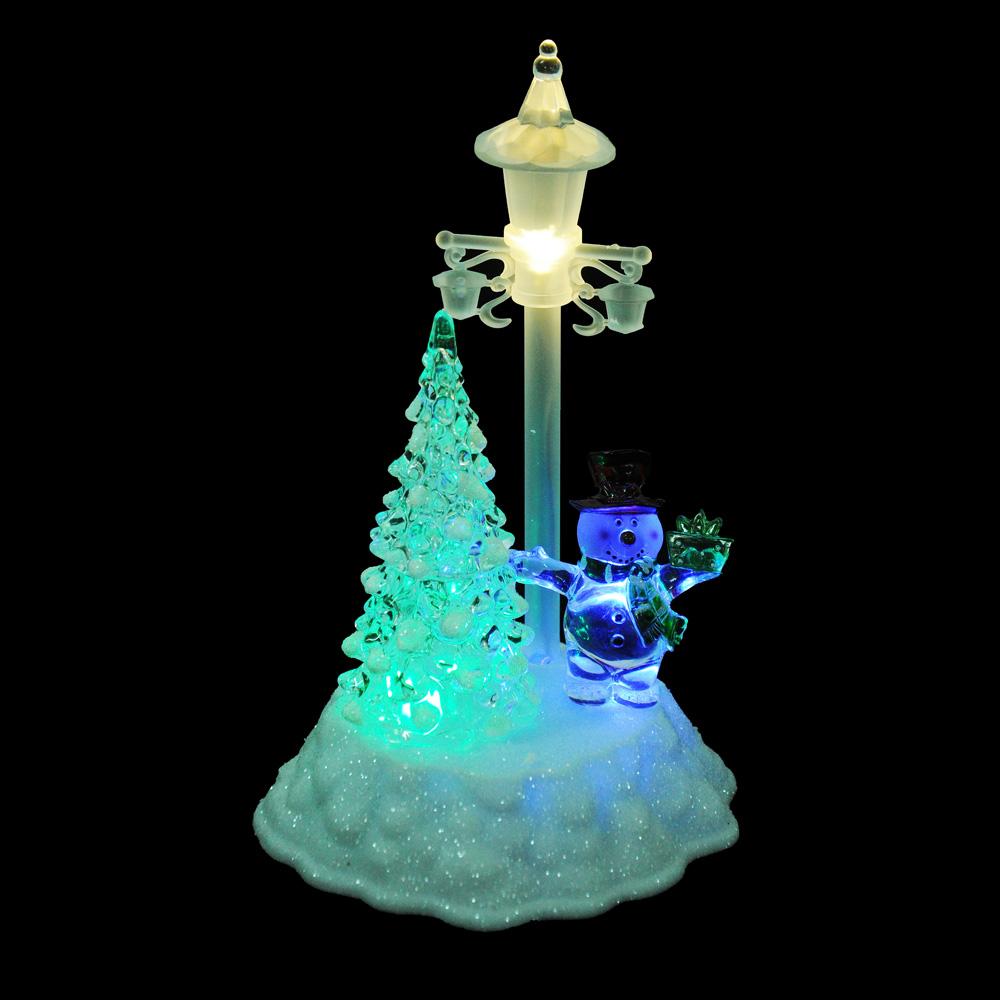 СНОУ БУМ Светильник LED в виде елки, акрил, 14х12х21,5см, 4хAAA, 1 режим свечения