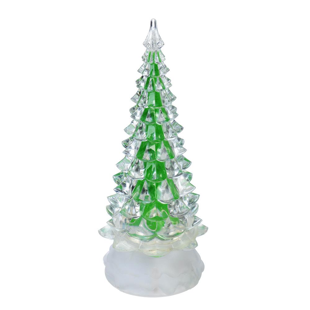 СНОУ БУМ Светильник LED, пластик, в виде елки, 24,5х9см, 3хААА, арт 2