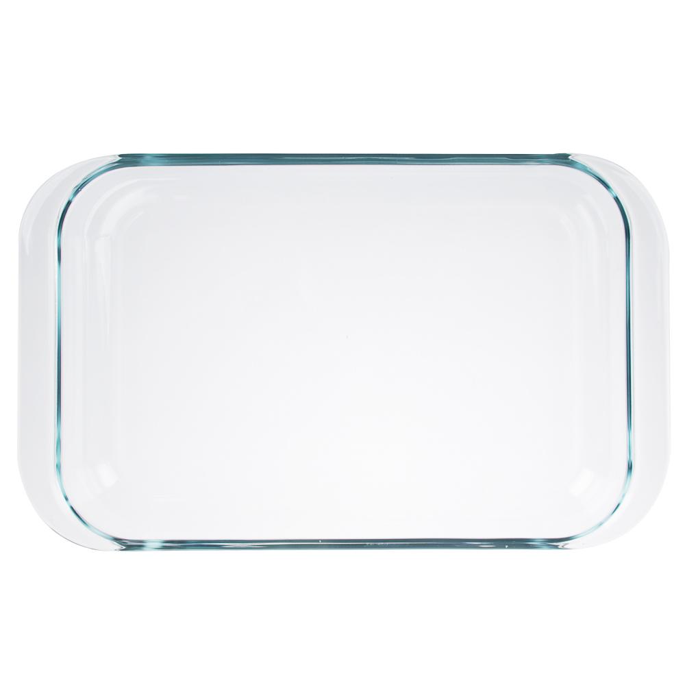 Форма для запекания жаропрочная, с ручками, стекло, 3,5л, SATOSHI
