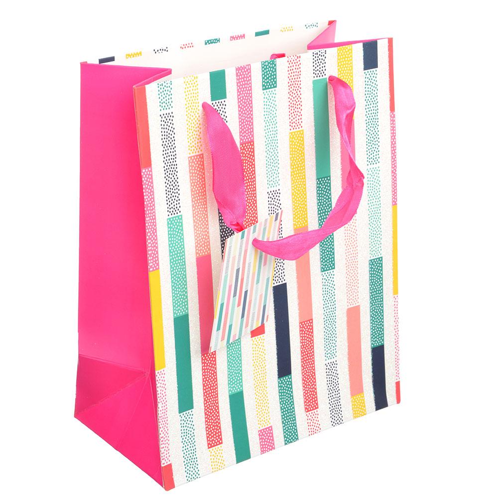 Пакет подарочный, 18х23х10см,высококачественная бумага, с глиттером, 4 дизайна, арт 112