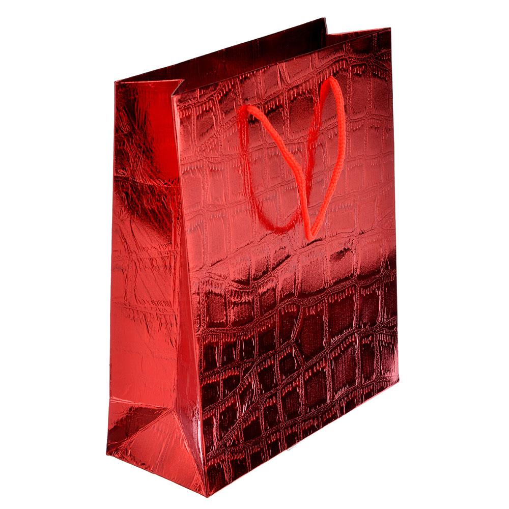Пакет подарочный, 26х32х10 см, высококачественная бумага, 3 цвета, арт 121