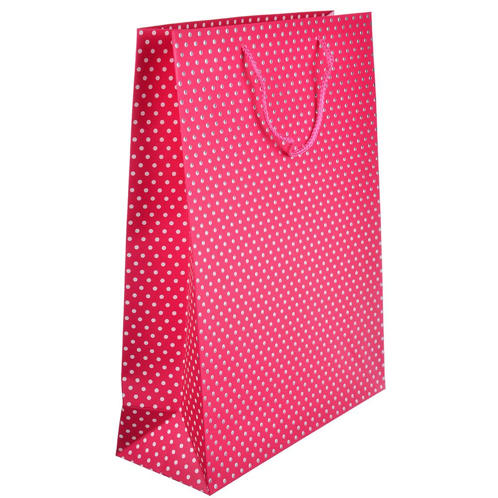 Пакет подарочный, 31х42х12 см, высококачественная бумага с блеском, 6 цветов, арт 130
