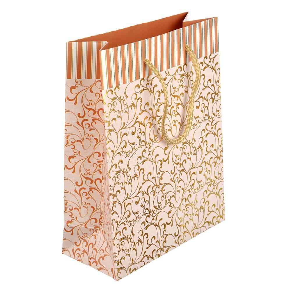 Пакет подарочный, 18х23х8 см, высококачественная бумага с блеском, 6 цветов, арт 131