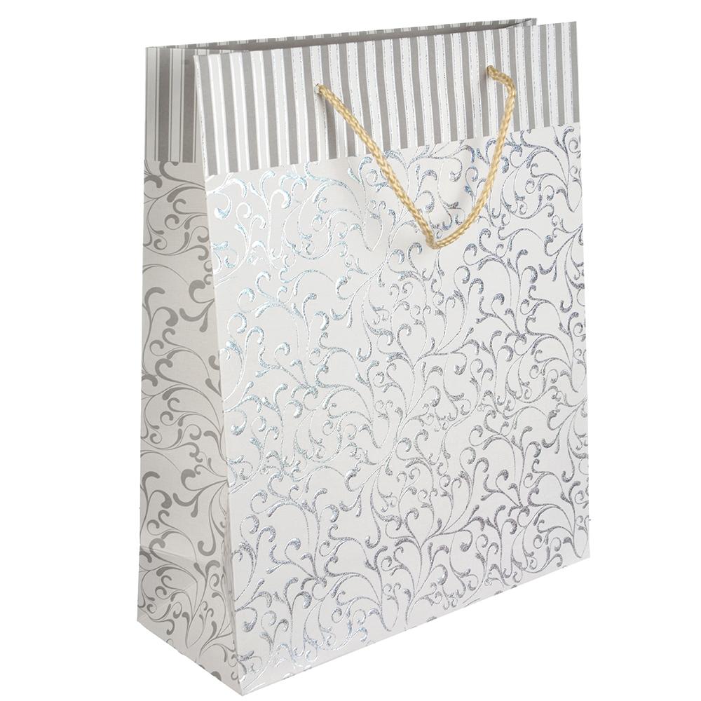 Пакет подарочный, 26х32х10 см, высококачественная бумага с блеском, 6 цветов, арт 132