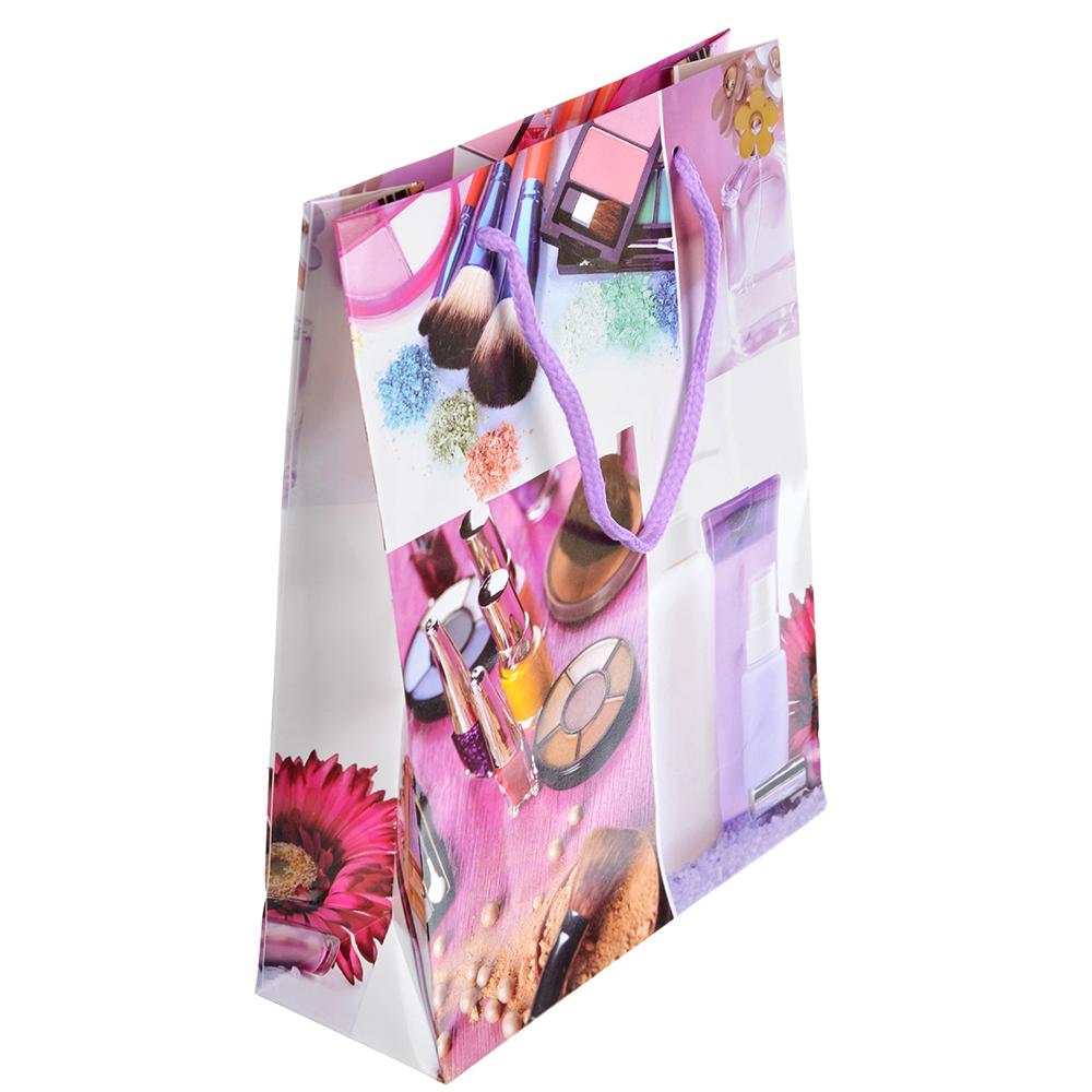 Пакет подарочный, 18х24х7 см, 4 дизайна, арт 138