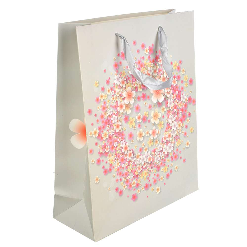 Пакет подарочный, 26х32х10 см, высококачественная бумага с блеском, 4 дизайна, арт 149