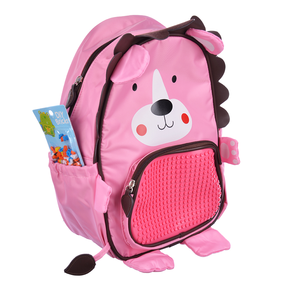 Рюкзак детский с пикселями для творчества, 2 лямки, полиэстер, силикон, 35х24х12см, 3 дизайна